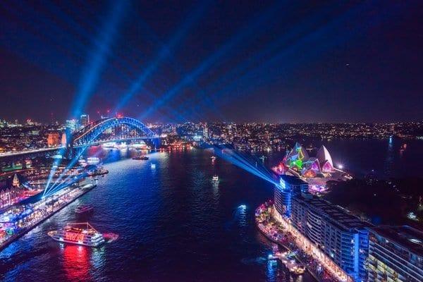 缤纷悉尼灯光音乐节亮灯 开启十周年庆典