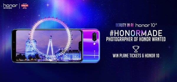 荣耀和英国旅游局推出全球摄影比赛