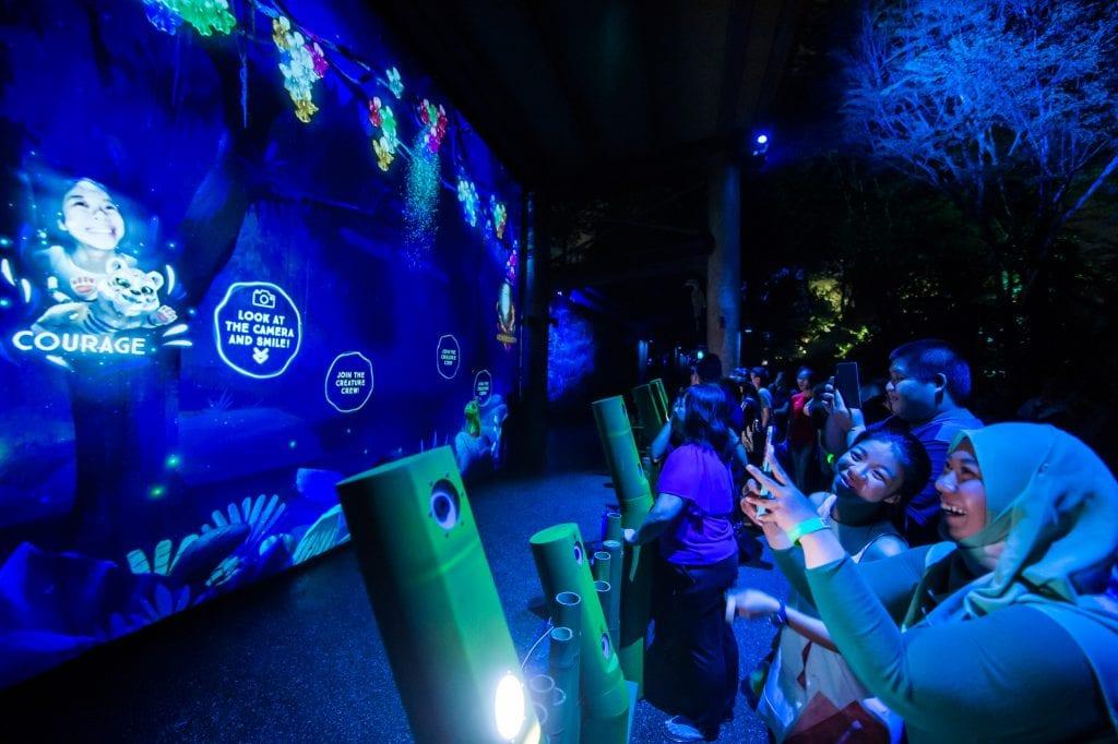 新加坡动物园隆重呈现东南亚首个幻光雨林体验